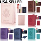 Внешний вид - RFID Blocking Leather Passport Holder ID Credit Card Cover Case Travel Wallet