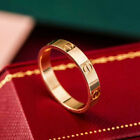 Fashion Lady Stainless Steel Love Screw Ring Gold Silver Rose-gold Wedding Gift