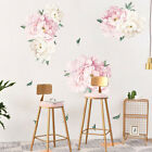 40x60cm Wall Sticker Peony Flower Home Decor Floral Pattern Mirror Surface Diy
