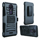 For Alcatel TCL A1X A503DL Belt Clip Holster + Hybrid Cover Phone Case