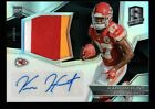 KAREEM HUNT 99 ROOKIE AUTO JERSEY PATCH SILVER PRIZMS RPA RC 2017 PANINI SPECTRA