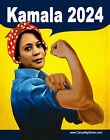 Kamala Harris 2024 Rosie the Riveter BUMPER STICKER or MAGNET magnetic 4.25x5.5""