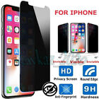 Privacy Tempered Glass Screen Protector Anti-Spy for iPhone X 6 7 8 Plus XS Max