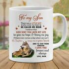 Wolf To My Son There's A Little Boy Who Stole My Heart Love Mom Coffee Mug