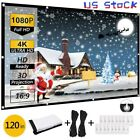 """60""""-150"""" Thick HD Projector Screen 16:9 Home 4K Movie Theater Opaque Foldable"""
