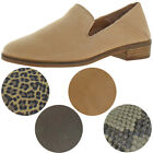 Lucky Brand Womens Cahill Leather Slip On Smoking Loafers Shoes BHFO 0128