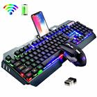 US For PC Laptop Wireless Gaming Keyboard and Mouse Sets 3800mAh LED Backlit