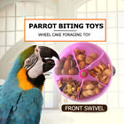 Bird Feeder ABS Pigeon Parrot Wheel Type Food Containers Funny Chewing Bite Toy
