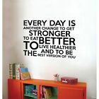 Fitness Get Stronger Motivation Quotes Vinyl Art Sticker Home Gym Wall Decals