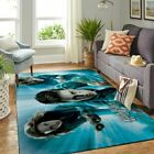 Magical Flying Broomsticks  Area Rug - Floor Decor