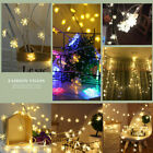 LED String Fairy Curtain Light Twinkling Snowflake Window Wedding Party Xmas HOT