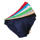 8PCS Men Elastic Seamless Underpants Breathable Briefs Ice Silk Underwear Shorts