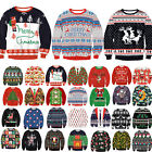 Christmas Xmas Mens Ugly Sweater Jumpers Long Sleeve Kids Child Pullover T-Shirt