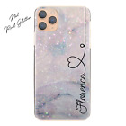 Personalised Initial Phone Case, Pink/Flower/Marble Hard Cover For Huawei Y6/Y9
