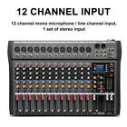 Professional Channel Live Studio Audio Mixer Power Mixing Amplifier  8/12/16 photo