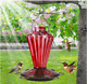 BOLITE Hummingbird Glass Bottle Feeder, 20-oz. Capacity Integrated Perches US photo