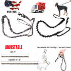 Nylon Retractable Rope Dog Leash Tactical K9 For Large Dog Heavy Duty Coupler US