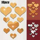 3d Love Heart Shape Mirror Wall Stickers Background Bedroom Home Decor Diy Tools