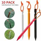 10 Pack Heavy Duty Aluminum Metal Tent Canopy Camping Stakes Pegs Ground Nail US