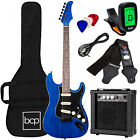 Beginner Electric Guitar Kit w/ Case, 10W Amp, Tremolo Bar COMPLETE ALL-IN-ONE for sale