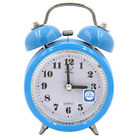 Vintage Retro Loud Double Bell Mechanical Quartz Keywound Alarm Clock Bedside *