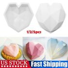Geometric Heart Shape Silicone Mousse Mold Cookie Mould Cake Diy Baking Tools