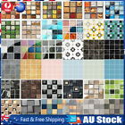 3d Kitchen Tile Stickers Bathroom Mosaic Sticker Self-adhesive Wall Decor Home