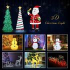 3D Christmas Lights Xmas Decoration Outdoor Indoor Garden Party LED Light Gift