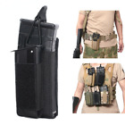 Open-Top Single Mag Pouch for Rifle & Pistol Molle Elastic Kangaroo Magazine Bag