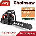 COOCHEER 62CC 20 Gas Chainsaw Handed Petrol Chain Woodcutting 2 Cycle 4HP e 249