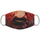 Freddy Krueger Halloween Face Mask Creepy Face Mask, Washable Reusable 3D