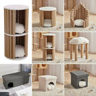 Cat Pet Kitten Warm House Cave Bed Indoor Igloo Nest Kennel Side Table/Stool UK