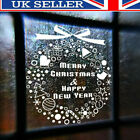 Merry Christmas Gift Wreath Wall Window Stickers Decals Xmas Home Shop Decor  D