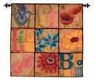 Blossoms Woven Decor Wall Hanging Tapestry 38 x 38""
