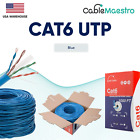 Bulk CAT6 1000FT Cable LAN Ethernet UTP 23AWG Solid Wire 550Mhz RJ45 Network