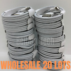Lot of 20 Bulk 3Ft 6Ft USB Apple iPhone 11 XR 8 7 6 Charger Charging Cable Cord