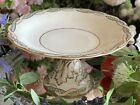 Antique Minton (?) Pedestal Comport Tazza Cake Stand Turquoise enamelled beading