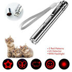 NEW 3 in 1 cat laser pointer toy USB powered cat laser toy, torch, UV light