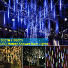 30/50cm LED Falling Icicle Meteor Fall Fairy Light Christmas Lights Garden Light