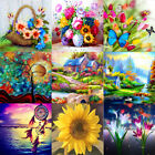 Full Drill Flower Cottage 5D Diamond Painting Cross Stitch Embroidery Decor Gift