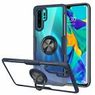 Slim Clear Back Ring Holder Cover For Huawei P40 P30 P20 Pro Mate 30 Lite Case