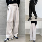 Mens Japanese High Waist Wide Leg Trousers Hippy Casual Loose Jogger Long Pants