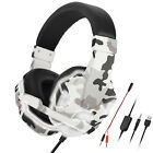 Camouflage Gaming Headset LED Stereo Surround Sound Headphone for PS5/PS4/Switch