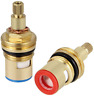 More images of DECARETA Ceramic Stem 20 Teeth Ceramic Disc Cartridge G1 / 2  Brass Faucet Valve