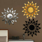 3d Mirror Sun Decal Art Wall Stickers Self-adhesive Removable Home Bedroom Decor