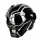 Masei 610 Black Monster Motorcycle Harley Casco Suzuki KTM Bike Open Face HELMET