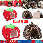 Pet Cat Dog Nest Bed Puppy Soft Warm Cave House Winter Sleeping Igloo Kennel UK