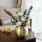 Gold Bowl Vase Plant Pot Centerpieces Easy To Clean Round Living Room Home Decor