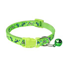 Cute Adjustable Cat Collar Bell Breakaway Safety Kitten Bright Dog Puppy