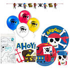 Ahoy Pirate Disposable Plates Napkins Tablecloth Party